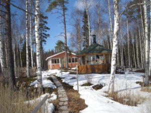 arbre forêt région sauvage neige hiver Piste maison cabane cabane chalet Météo saison Finlande des bois cabane en rondins Mikkeli Maison de sucre